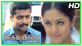 Kaaka Kaaka movie scenes | Jyothika apologises to Suriya | Gautham Menon | Harris Jayaraj