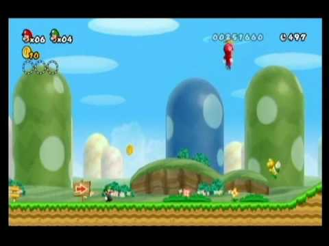 NEW SUPER MARIO BROS WII-ALM1GHTY & WIFEY-WALKTHROUGH-WORLD 1-5 Video