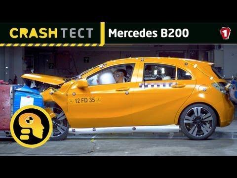 Mercedes B200. Краш-тест