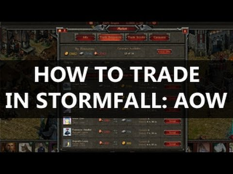 How to TRADE Resources in Stormfall Age of War - Video Guide