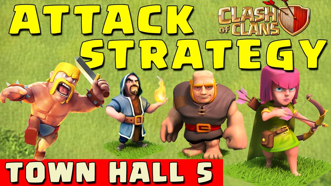 Clash of clans best attack strategy townhall level 5 coc th5