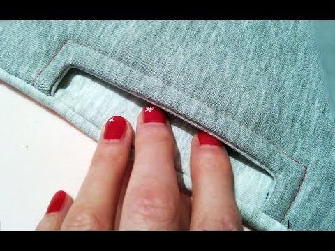How To Sew A Pocket. EASY . Jak Uszyć Boczną Kieszeń Do Spodni Lub Bluzy