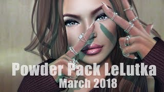 Powder Pack LeLutka March 2018 - Unboxing Video - Second Life Subscription Box