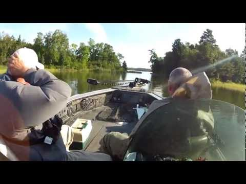 Ontario and Minnesota Walleye Fishing - Lake of the Woods Fishing Report Video 8-16-12