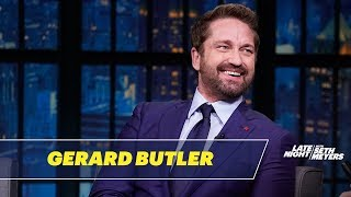 Gerard Butler Gave a Press Conference at the Pentagon