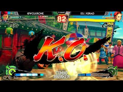 Combo Breaker - EG  Kbrad Cammy Vs Wolfkrone CViper USFIV WQ - Ultra Street Fighter IV