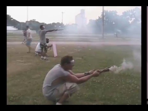 Crazy roman candle fight