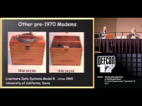 DEFCON 17: Old Skool Brought Back: A 1964 Modem Demo