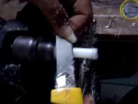 Membuat valve bahan nylon untuk senapan PCP ( Make airgun valve with DIY lathe )