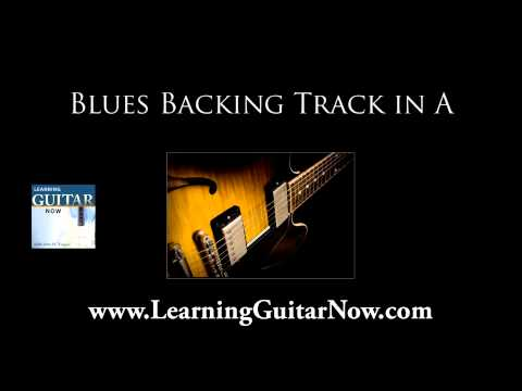 Shuffle Blues Backing Track in A