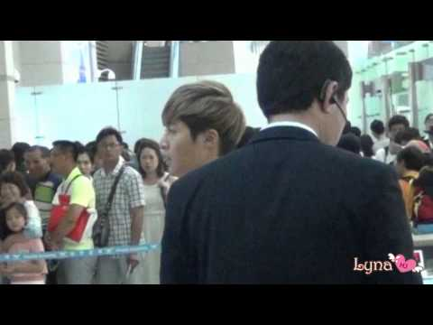 20140815 Kim Hyun Joong Fancam Incheon Airport Departed - Shanghai video
