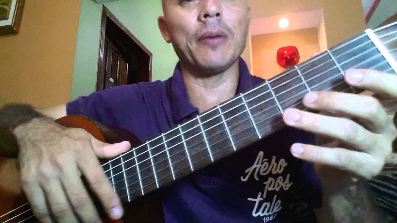 Tutoriales de Guitarra Acordes de Sol y La Mayor - YouTube