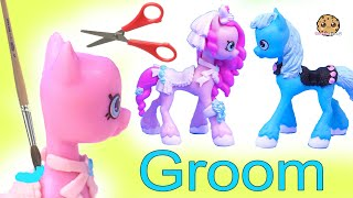 Groom PONY Wedding Shopkins Happy Places Petkins Custom ! DIY Painting Video