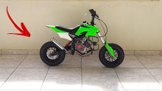 MINI MOTO COM MOTOR DE BICICLETA MOTORIZADA - BinhoBarcelos