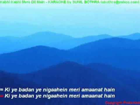 kabhi kabhi mere dil mein hindi karaoke   YouTubeswf