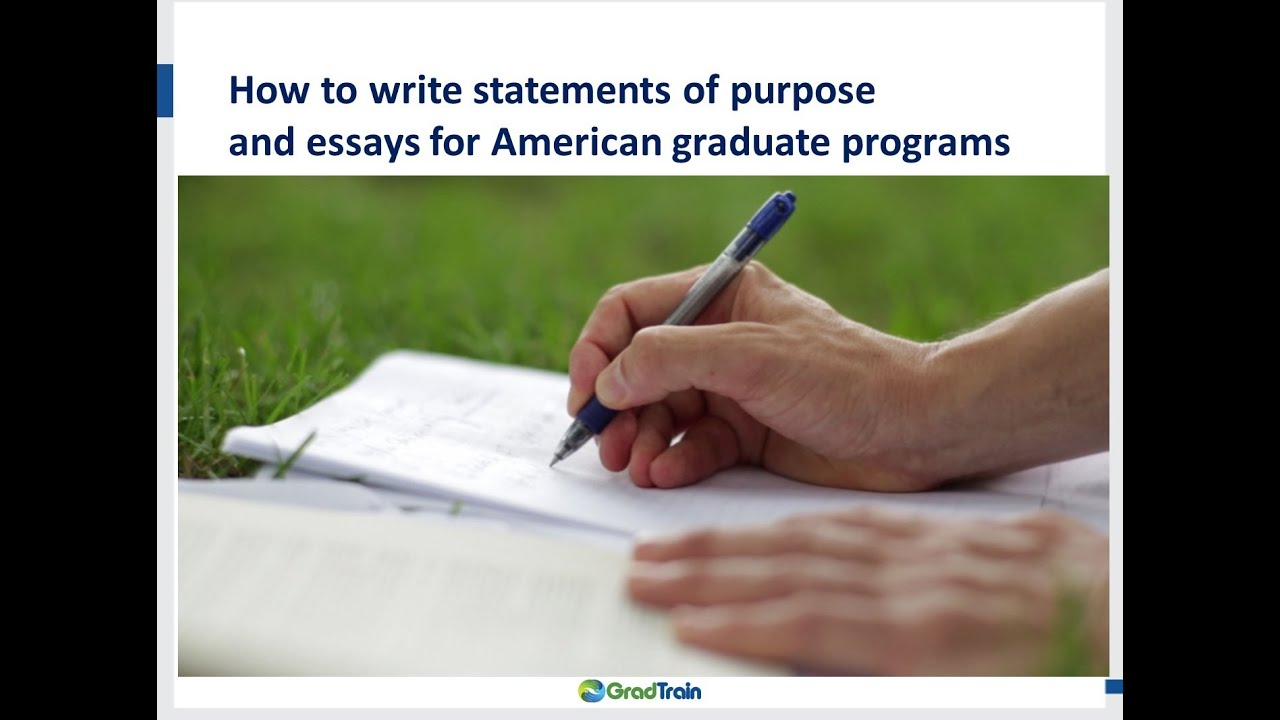 tips on writing statement of purpose Rev 10/13 tips on writing a successful statement of purpose statement of intent: academic master's & doctoral programs the statement of intent, or statement of purpose, is required of academic masters and doctoral program.