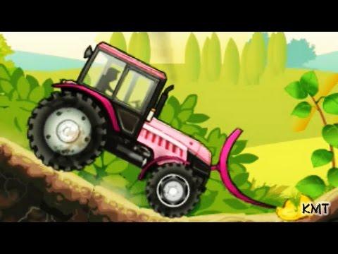 Tractors for Kids Cartoons - Children Farm Vehicles games video