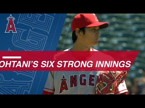 Ohtani K's 6 over six innings to earn first MLB win