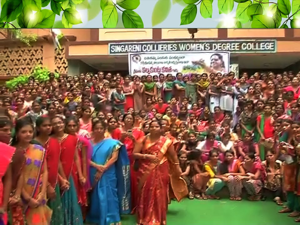 Bathukamma Celebrations in Singareni Collieries Women's Degree ...