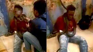 Video Jambret Histeris Dililitkan Ular saat Diinterogasi Petugas Viral, Polisi Minta Maaf
