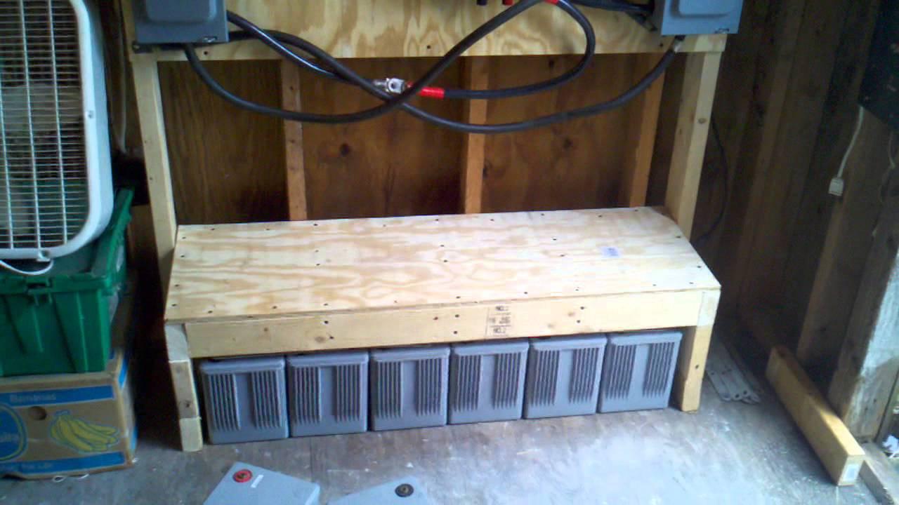 Building My Data Safe Solar Battery Bank Rack Youtube