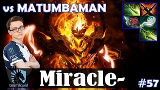 Miracle - Shadow Fiend MID | vs MATUMBAMAN (Jugger) 7.22 Update Patch | Dota 2 Pro MMR Gameplay #57