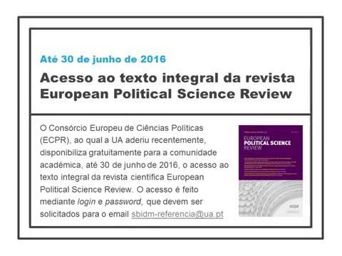 Trial: revista European Political Science Review