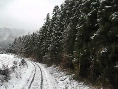 Train Ride, Aizu to Nikko, Japan, winter