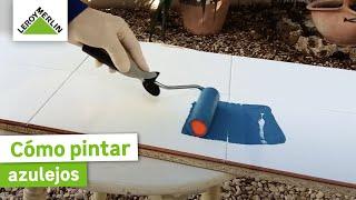 Pintar azulejos bano bricomania