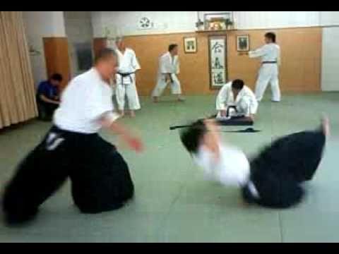 合気道 塾 逆半身 片手取り 呼吸投げ 02 aikido juku katate tori kokyu nage 02