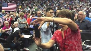 Thousands React to Hillary For Prison Shirt at Trump Rally in Dallas Texas