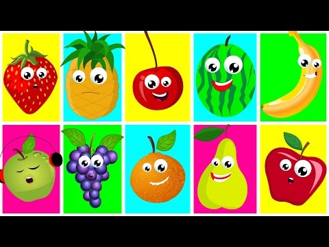 Ten In The Bed Fruits | Nursery Rhymes For Kids And Childrens | Learn Fruits | Songs For Toddler