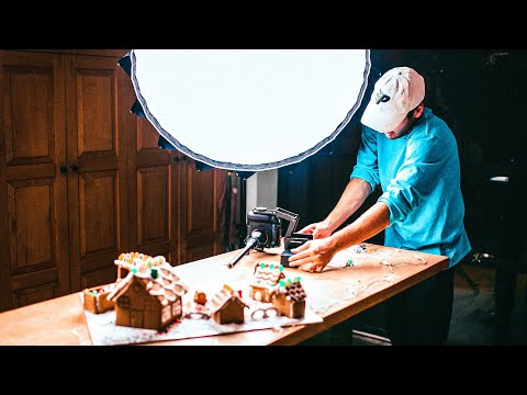 HOW I FILM EPIC GINGERBREAD B ROLL | Behind the Scenes