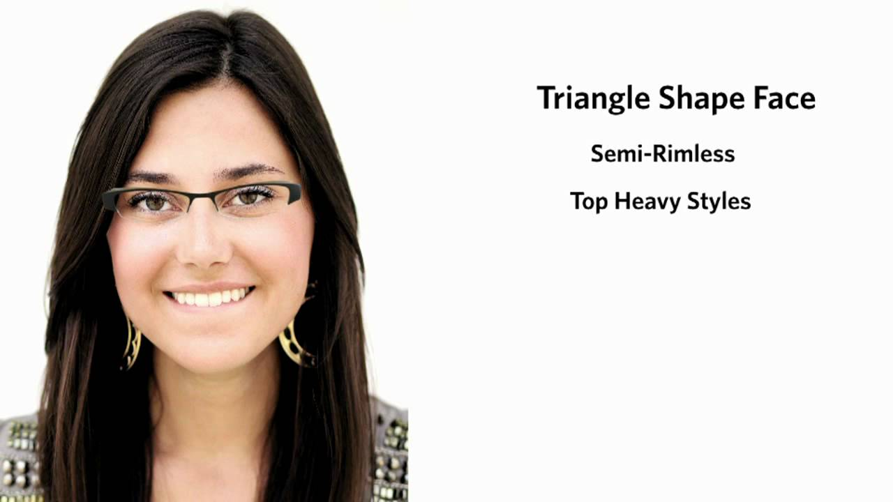 Black Frame Glasses For Oval Face : Frames for a Triangle Face Shape - Female - YouTube