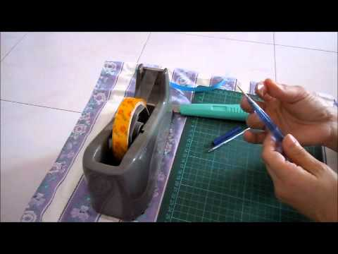 Making a quilling tool youtube for How to make your own quilling paper