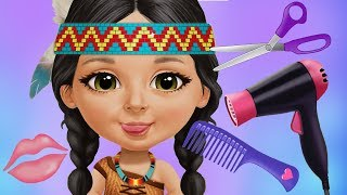 Fun Girls Care Games - Sweet Baby Girl Summer Camp Hair Style Salon Makeover Clean Up Kids Games