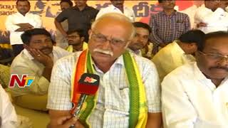 TDP Leader Ashok Gajapathi Raju Participates in MP CM Ramesh Hunger Strike for Kadapa Steel Plant