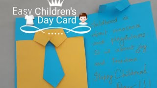 Easy Children's Day card for Boys l Children's special greeting cards