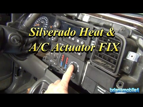 Silverado Heater and AC Actuator FIX