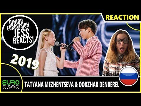 RUSSIA JUNIOR EUROVISION 2019 REACTION: Tatyana Mezhentseva & Oorzhak Denberel - Time For Us