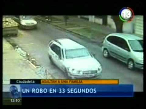 Inseguridad sin fin: le robaron el auto a una familia en sólo 33 segundos