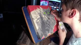 Gracie - Cat Painting Time Lapse