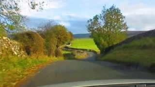 Beautiful countryside drive in United Kingdom