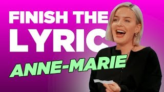 Anne-Marie Belts Out Some Powerful Ballads In 'Finish The Lyric'