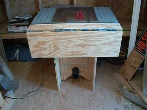 Tablesaw stand - YouTube
