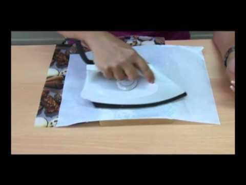 Tecnica decoupage sobre carton