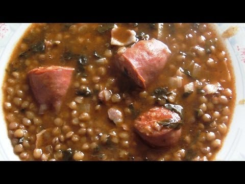 Самое традиционное испанское блюдо Lentejas con chorizo. Как мы готовим чечевицу.