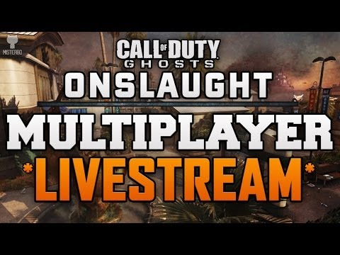 COD Ghosts Onslaught: Multiplayer Maps DLC *LIVE* Michael Myers And Maverick AR Gameplay !!!