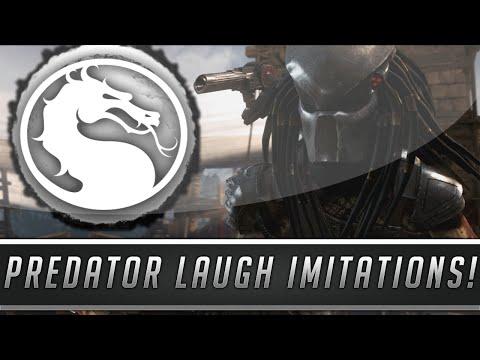 Mortal Kombat X: All Predator Imitations - Mimicking Voices & Laughter! (Mortal Kombat 10)