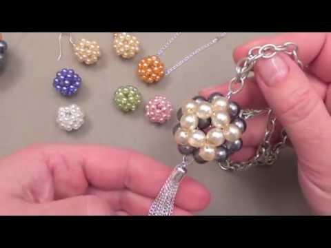 fabriquer des bijoux boules en perles youtube. Black Bedroom Furniture Sets. Home Design Ideas